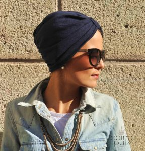 Turban femme Paina Pulz - Paris, Le Casual, bleu nuit
