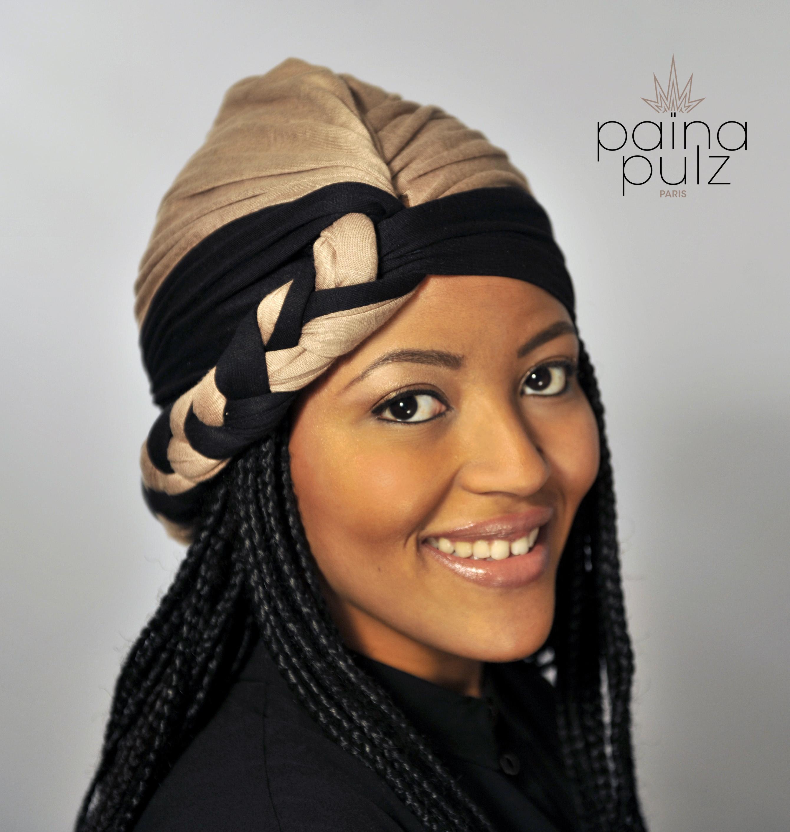 Turban femme Paina Pulz, La Tresse, camel