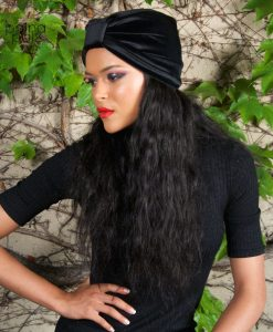 Turban femme Le Velvet Retro noir