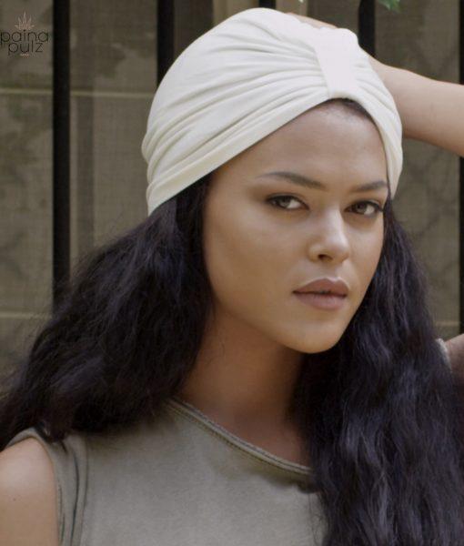 Turban femme le trendy bambou ivoire