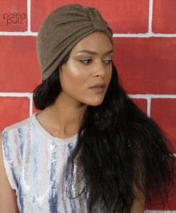 Turban femme Le casual couleur Iced muscade