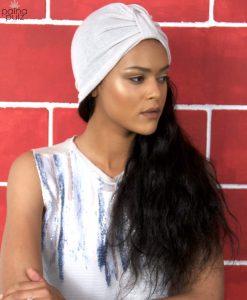 Turban femme Le casual couleur moon white