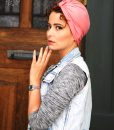 le turban trendy pop pink bambou extensible