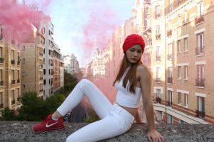 turban trendy rouge