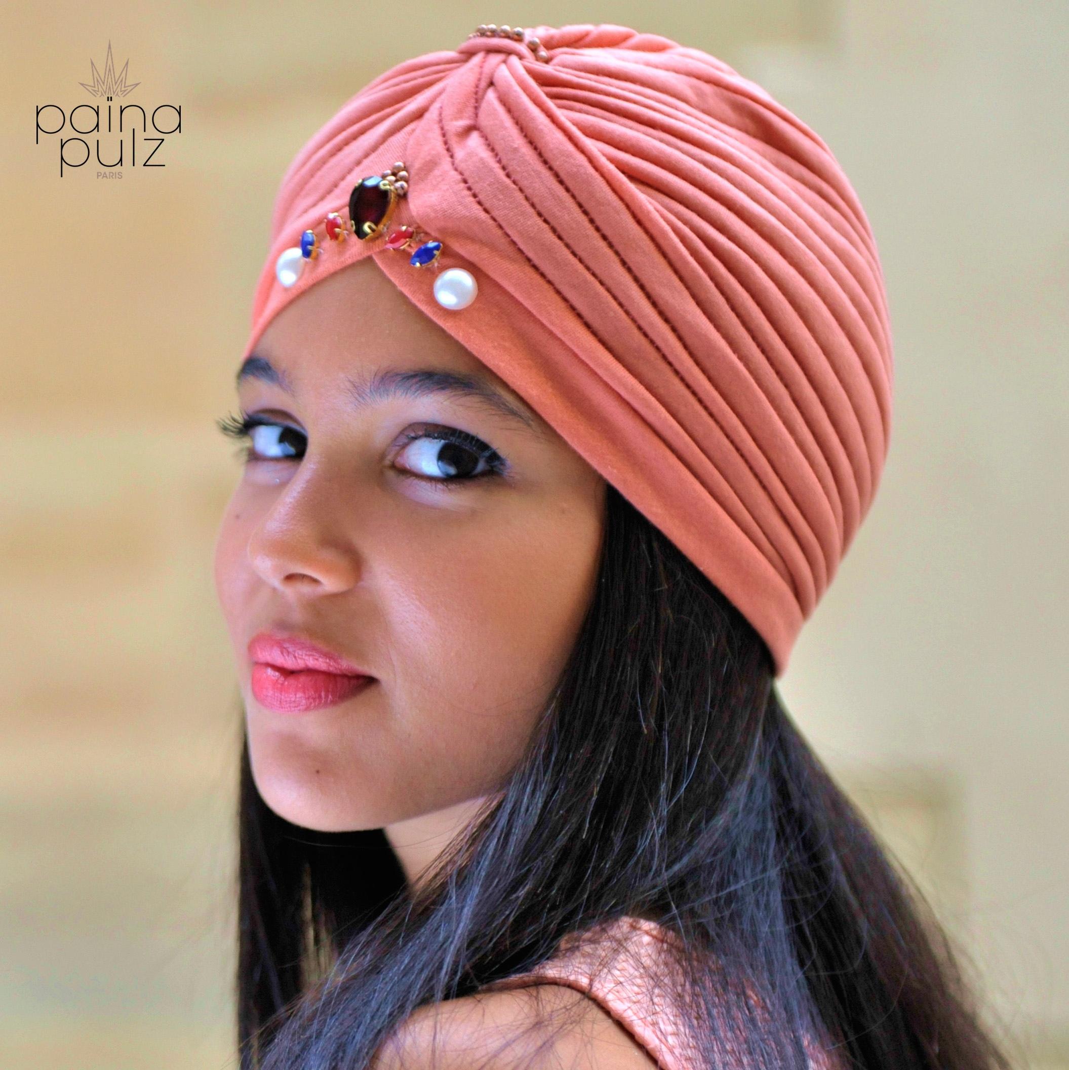 Turban femme Paina Pulz - Paris Le Grenada Corail