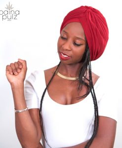 turban Païna Basic rouge carmin volume léger