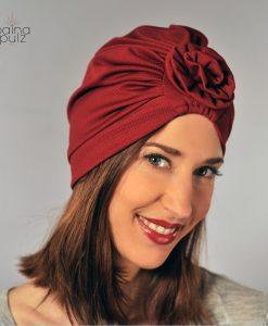 Turban femme Paina Pulz - Paris Le Warda, cerise
