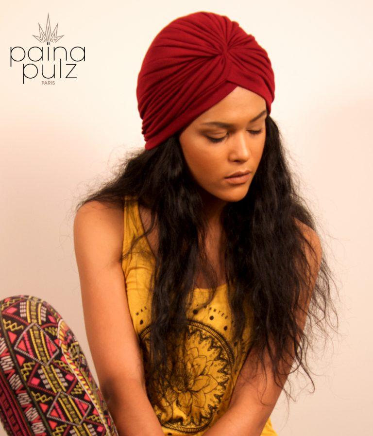 Turban femme Le Païna Basic rouge