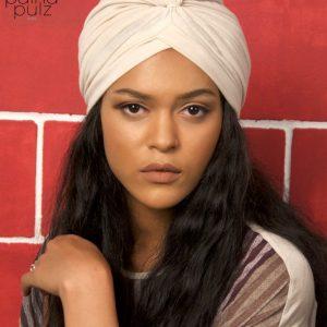 Turban femme Le Païna Basic beige caraïbe