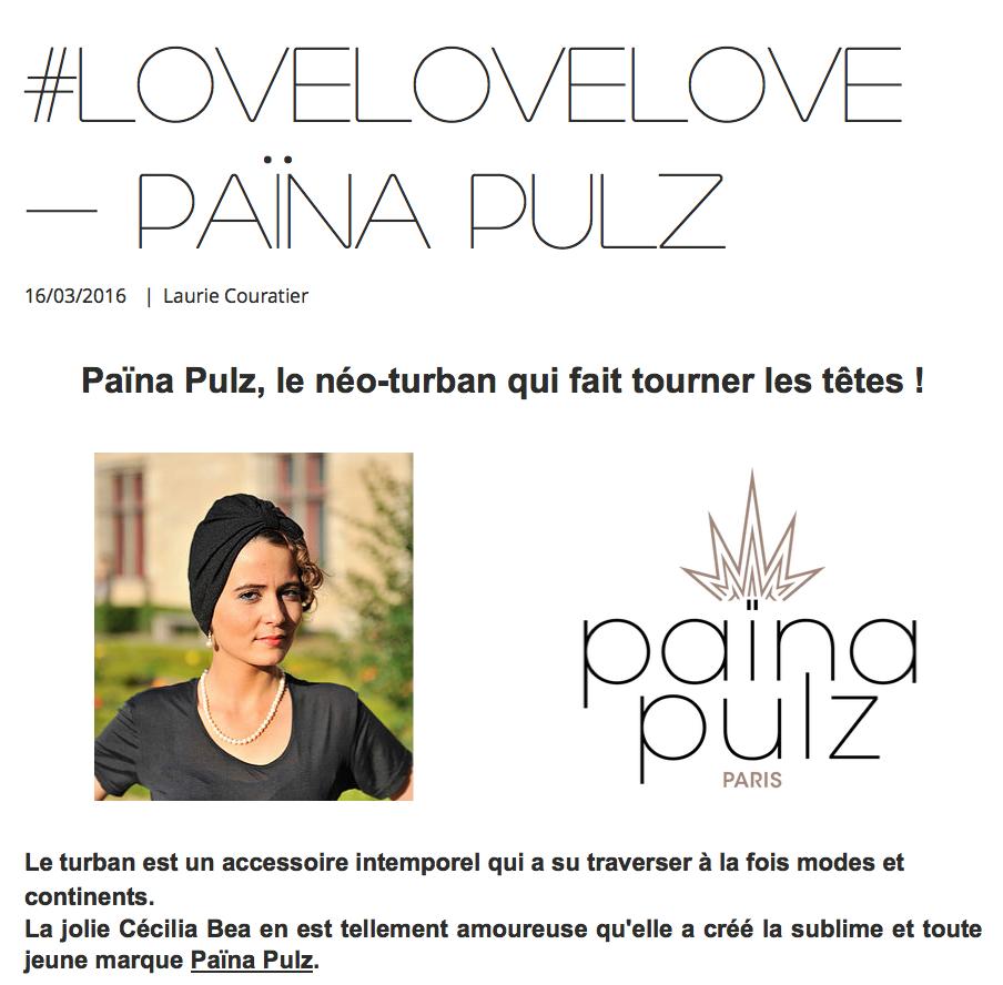 Laurie Couratier parle de PAINA PULZ