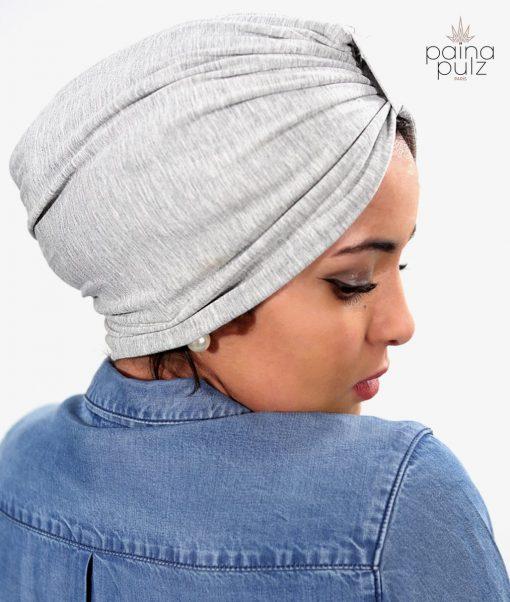 Turban femme le trendy bambou gris