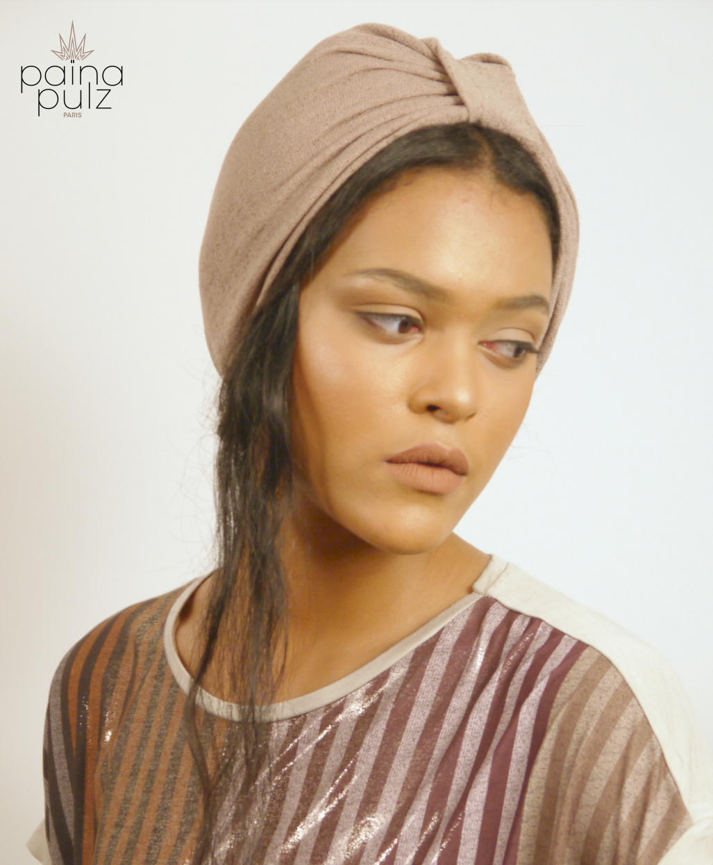 Turban femme Le Dandy sable