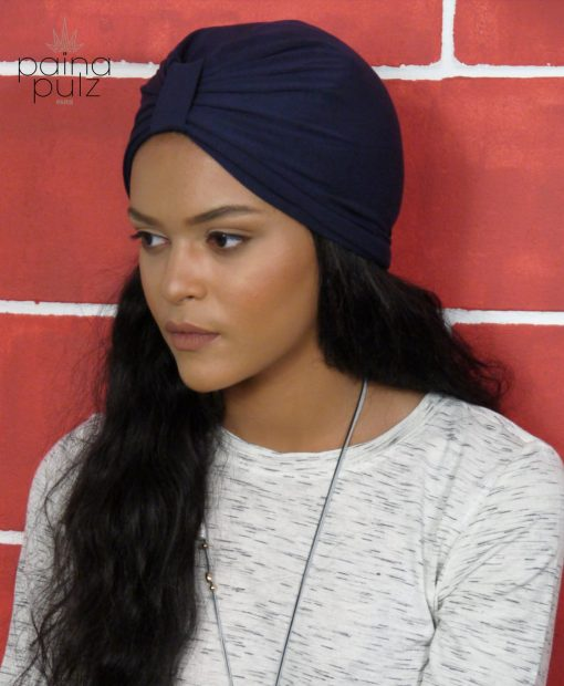 Turban femme le trendy bambou bleu
