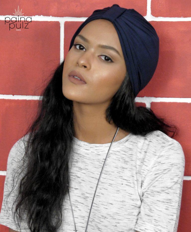 Turban femme bambou gris trendy