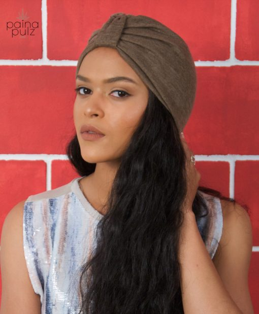 Turban femme Le casual couleur Iced muscade