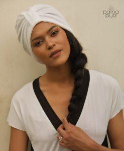 Turban femme Le Dandy blanc