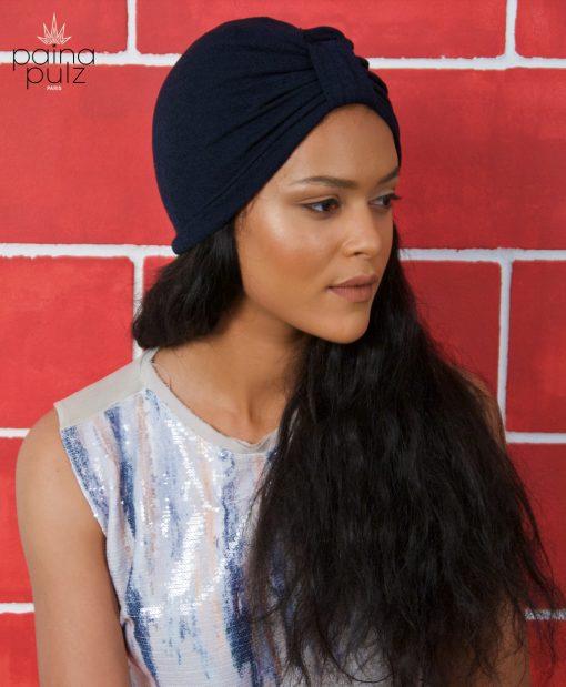 Turban femme Le Dandy bleu