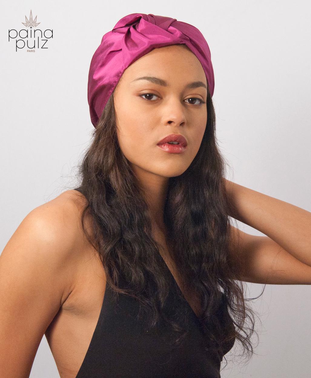 Turban femme mode Hanami soie