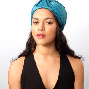 Turban femme en soie