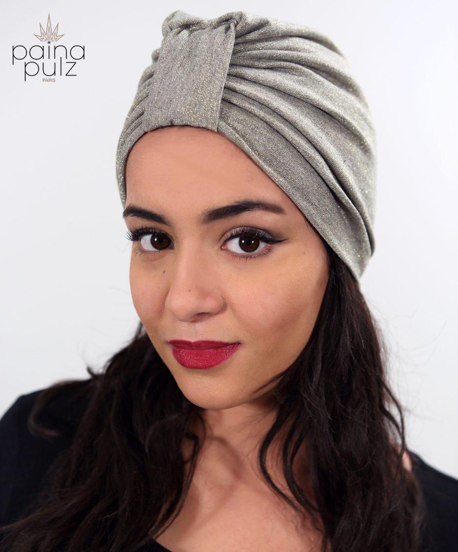 Tenesquare Apple Gold, un turban glamour, pour des Païnitas tout aussi glam'!