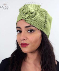 Turban soie Voilette Green