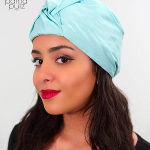 Le Turban soie Turquoise Pastel