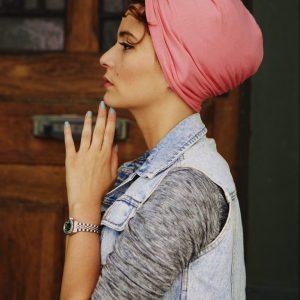 trendy-pop-pink- bambou turban femme
