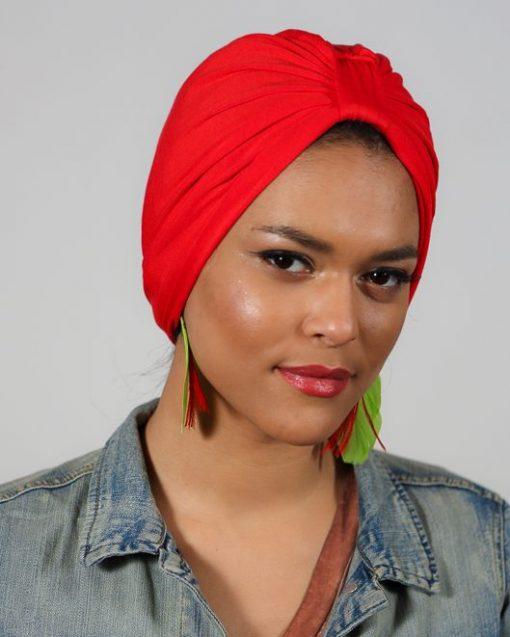Couleur! c'est de mise pour les Païnitas avec le turban Trendy Rouge !