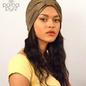 turban femme tenesquare bronze-antique