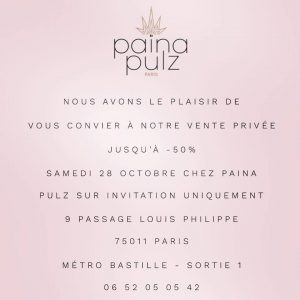 Vente Privée Païna Event
