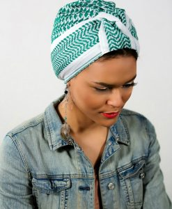 Le turban Crescent Moon Vert! Sublimer votre rock attitude !