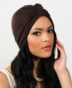 Turban léger Casual Marron Café
