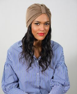 Le Casual Safari, le turban camel indispensable dans sa collec'!