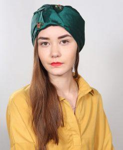 Le turban Emeraude orné de pierres Swarovski