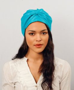 Le turban Candy chic Bleu Cyan